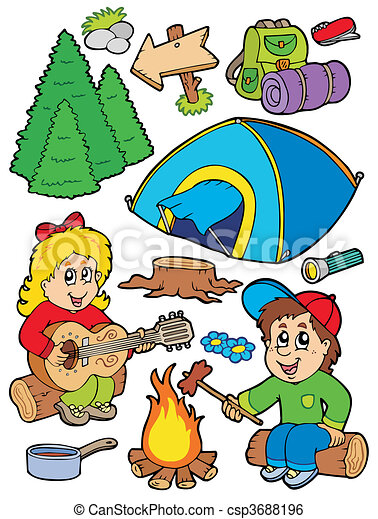 Holiday camping collection - csp3688196