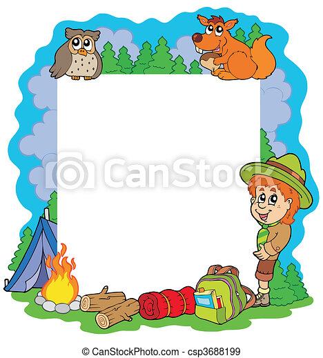 Outdoor summer frame - csp3688199
