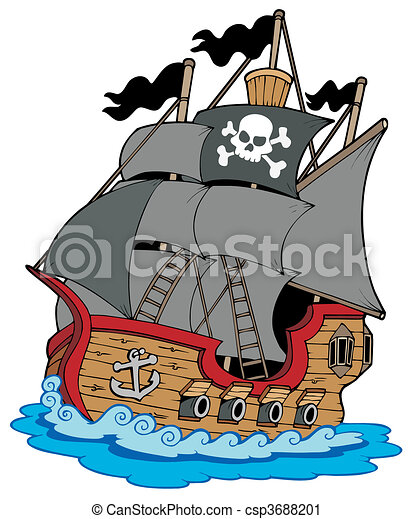 Pirate vessel - csp3688201