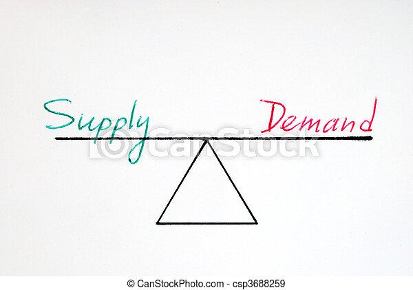 Supply and demand  - csp3688259