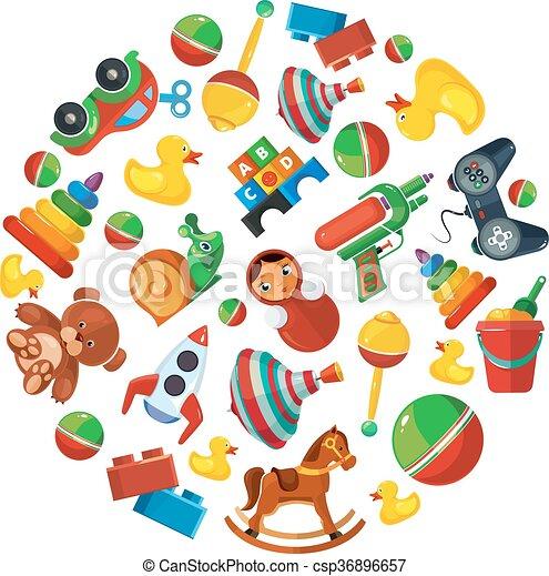 Kinderkreis clipart  Clipart Vektor von spielzeuge, form, kinder, kreis, heiligenbilder ...