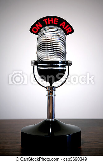 Retro microphone  - csp3690349