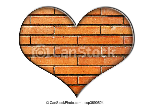 Stock Photo Of Bricks Heart Heart Made Of A Close Up Of