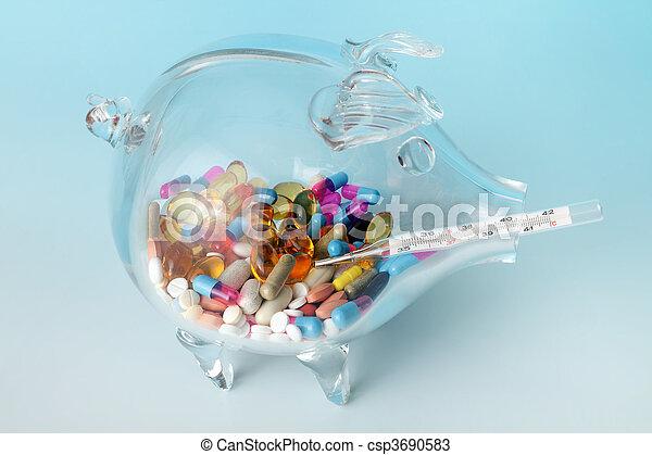 Expensive health - csp3690583