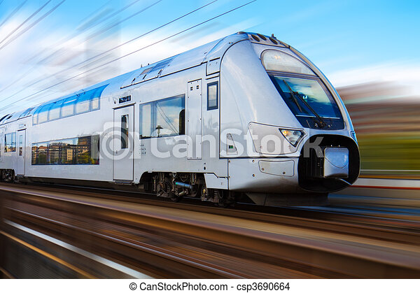 Modern high speed train - csp3690664
