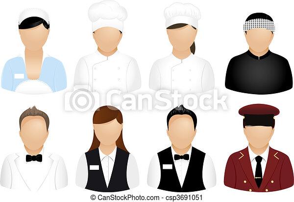 Restaurant People Icons - csp3691051