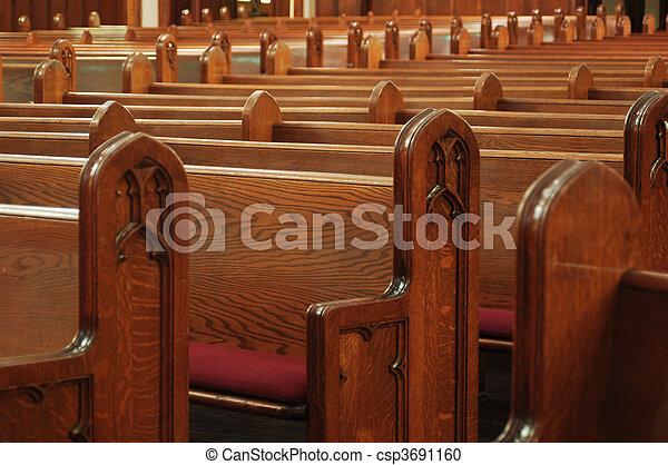 empty church pews - csp3691160