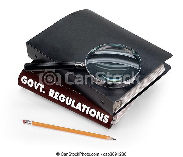 regulamentos, Governo - csp3691236