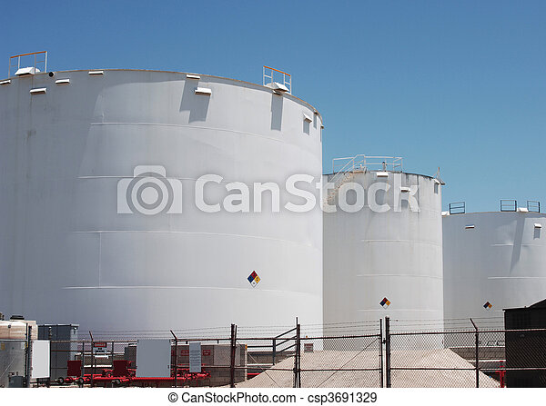 petro-chemical storage tanks - csp3691329