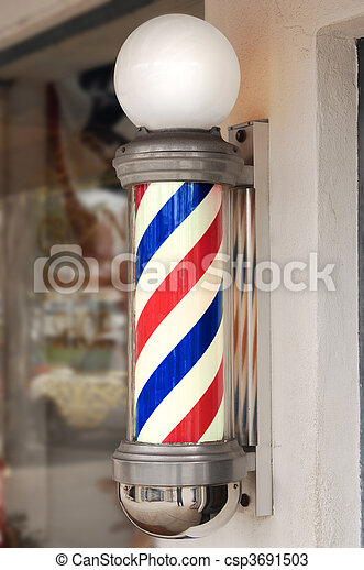 barber pole - csp3691503