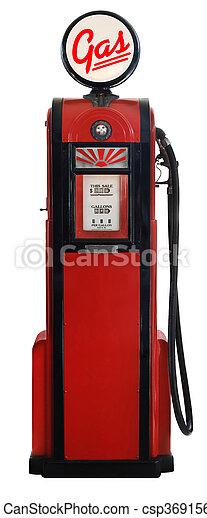 stock photo   1950s gas pump