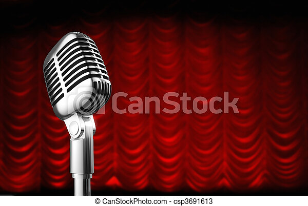 theatre curtain - csp3691613