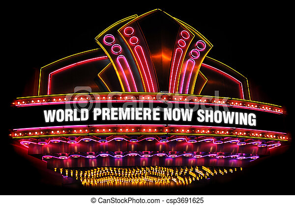 movie theatre marquee - csp3691625