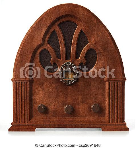 gothic radio orthographic - csp3691648
