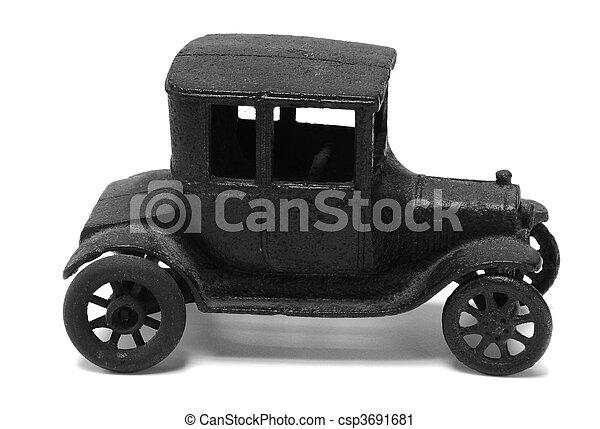 antique iron toy car - csp3691681