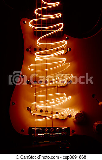 Electric guitar - csp3691868