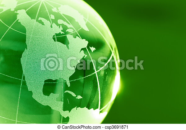 Glass globe - csp3691871