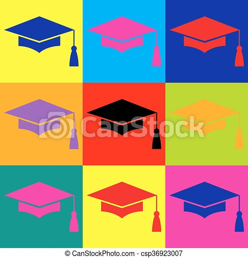 Vector Clipart of Mortar Board or Graduation Cap, Education symbol ...