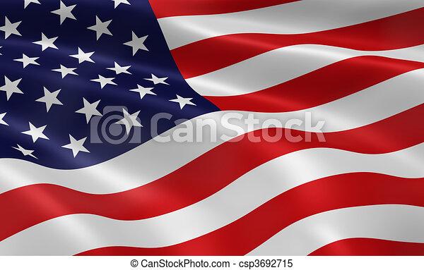 amerikanische, Fahne - csp3692715