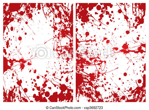 blood splat frame - csp3692723