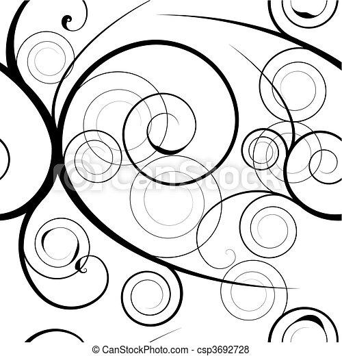 floral swirl background - csp3692728