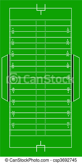 Scale Vector American Football Pitch - csp3692745