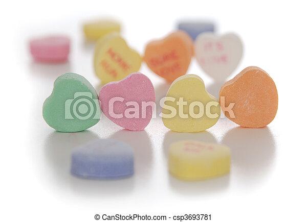 valentine\'s, cœurs, jour, bonbon - csp3693781