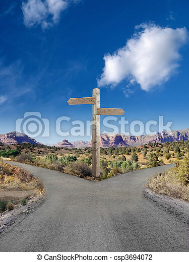 Fork in the road - csp3694072