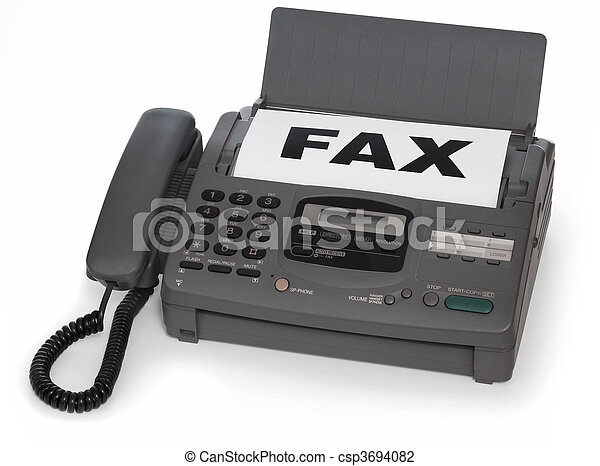 fax machine - csp3694082