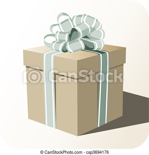 Gift box whit big ribbon - csp3694176