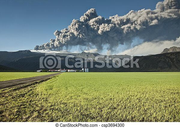 Eyjafjallajokull volcano - csp3694300