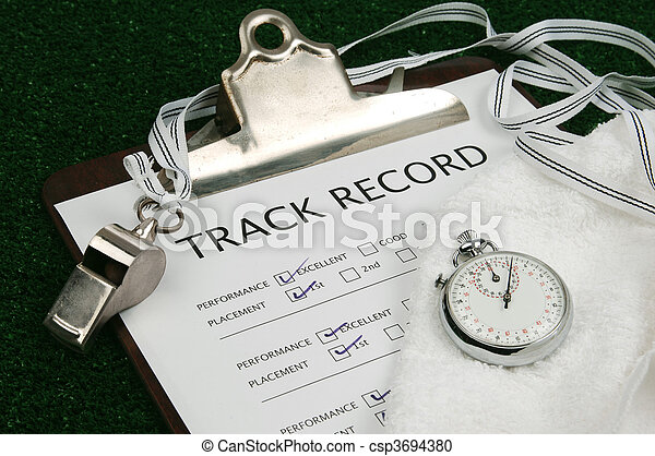 Track Record close-up - csp3694380