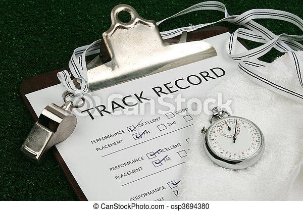 Track Record close-up - csp3694380