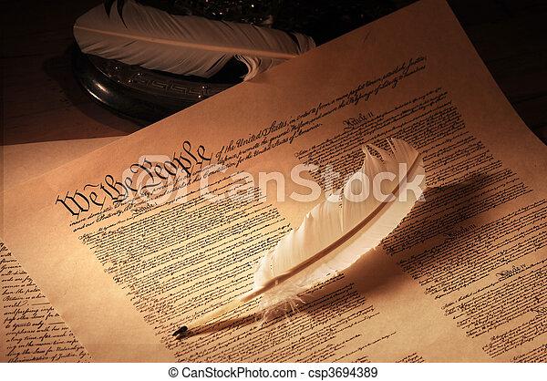 US Constitution medium - csp3694389
