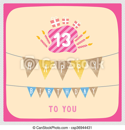 Drawings of Happy 13th birthday card - Happy 13th birthday ...