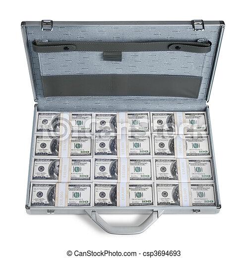 Briefcase full of money - csp3694693