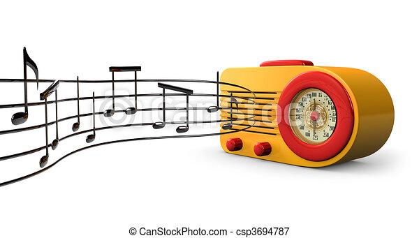 Radio 1950s Music a Retro 1950s Radio With Music