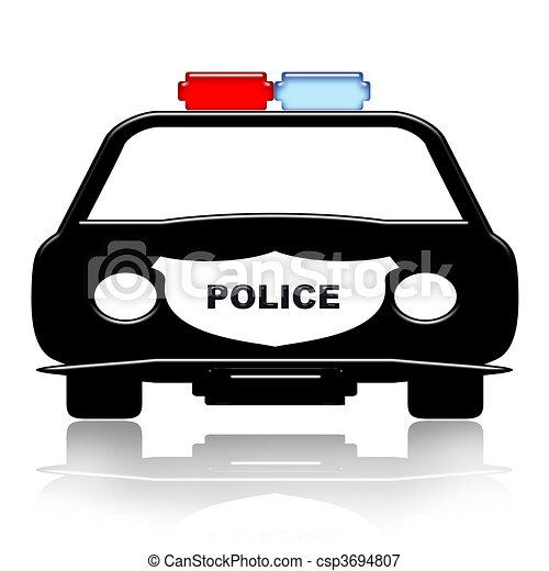 Stock Illustrations of Police Car - Police Patrol Car ...