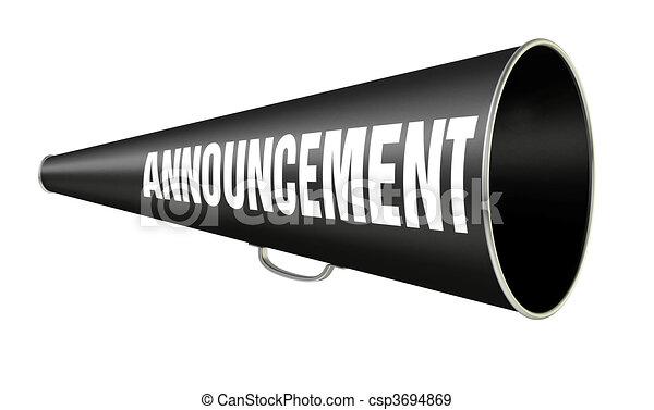 Megaphone Announcement - csp3694869