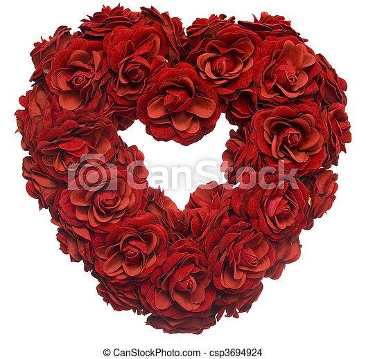 Rose Petal Heart - csp3694924