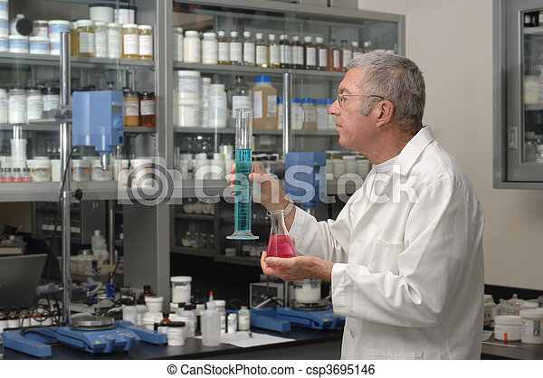 Chemist in Lab - csp3695146