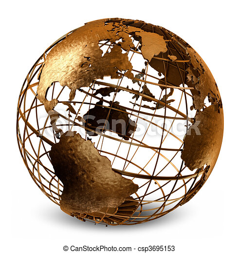 Caged Globe - csp3695153