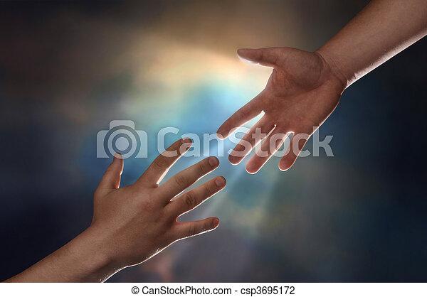 helping hand - csp3695172