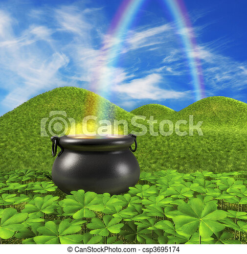 End of the Rainbow - csp3695174