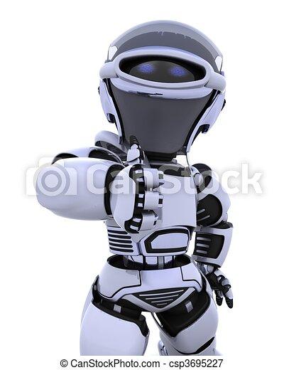 cute robot cyborg - csp3695227