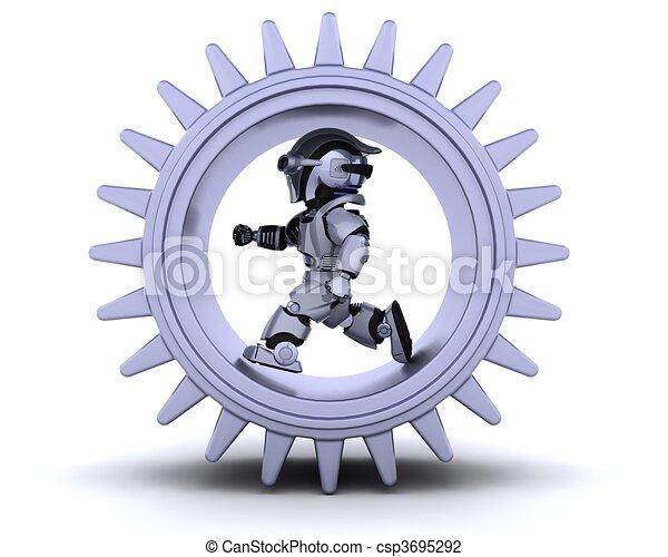 robot with gear mechanism - csp3695292