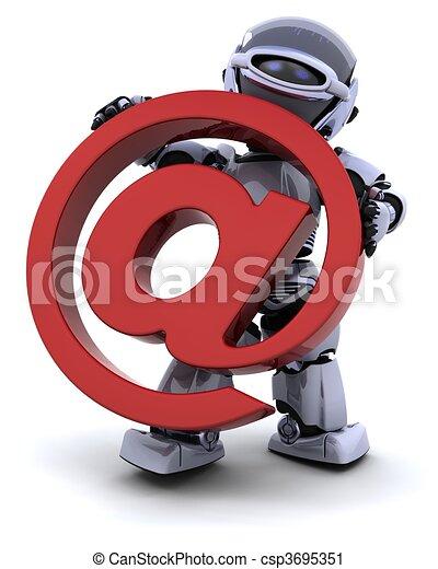 robot with symbol - csp3695351