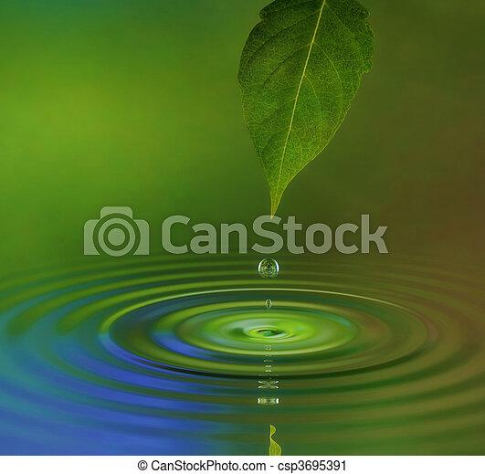 agua, onda - csp3695391