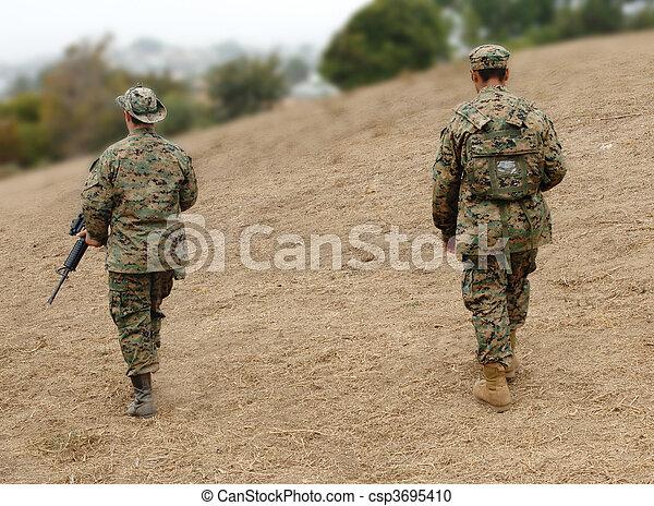 Two Marines - csp3695410