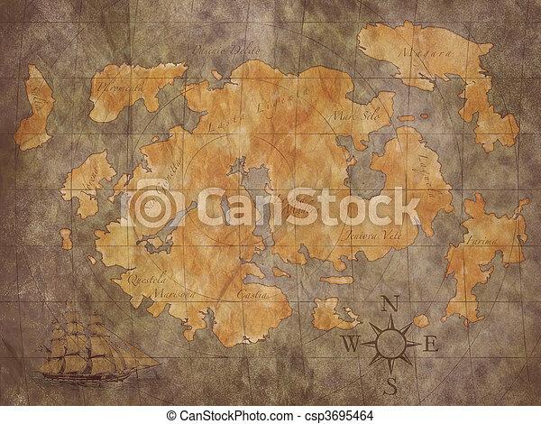 Treasure Map - csp3695464